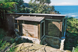 Crater Cove hut.