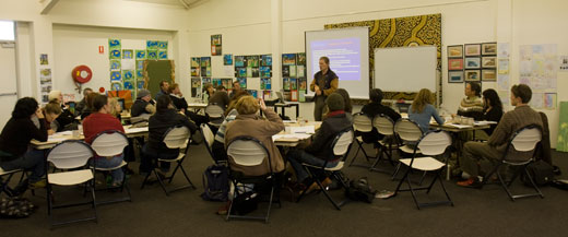 The one-day workshop attracted participants from councils, community organisations and others.