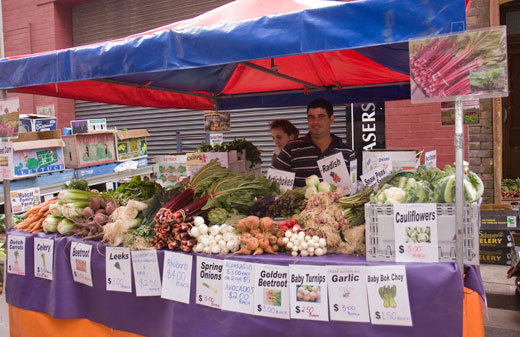 Hawkesbury region market gardener, Andrew Muscat, supplies local food at a number of farmers' markets in Sydney.