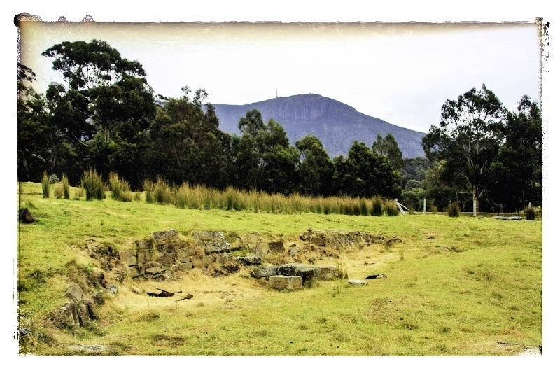 All that remains... ruins on a Tasmanian mountainside