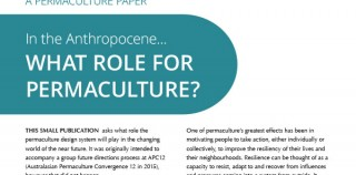 In the Anthropocene… What role for permaculture?