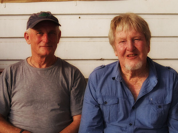Bluey Fisher (right) with author.