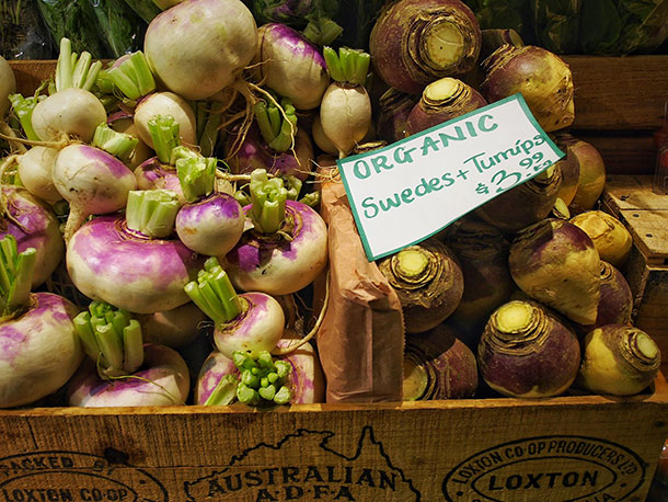 Venues like Adelaide's Central Markets are popular places to shop for food and link regional growers to urban markets. Part of their popularity stems from their persoanlised shopping experience that stands in marked contrast to the supermarket's industrialised shopping experience.