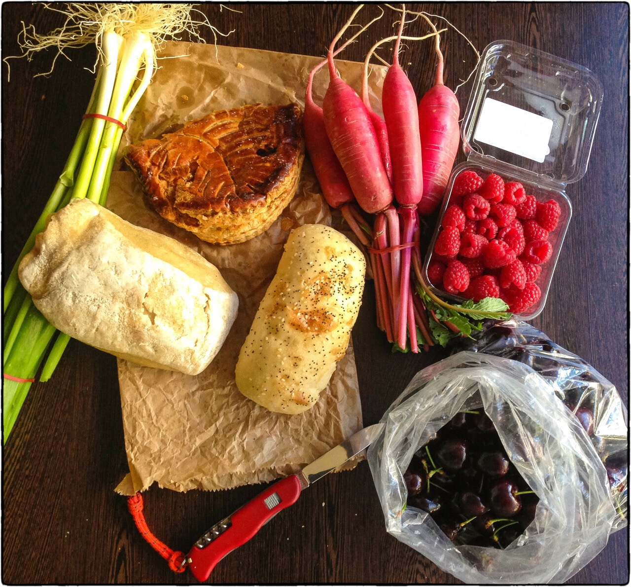 Food from a Tasmanian farmers' market — morally superior of just good and lcoal?
