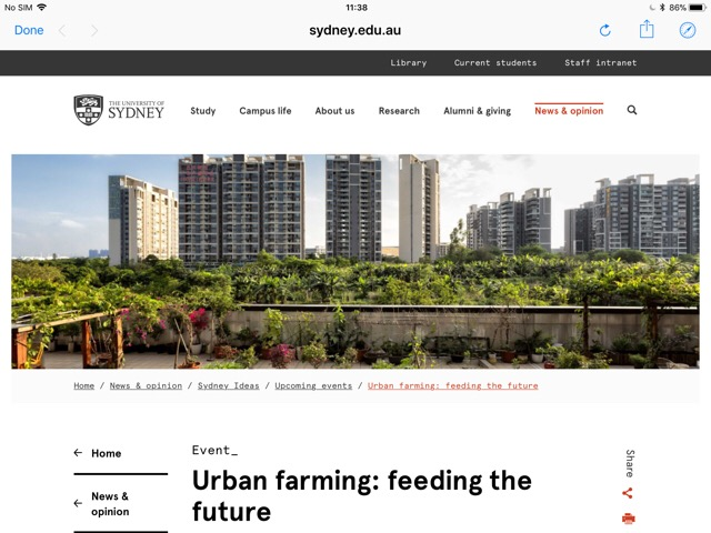 Good ideas flow at Sydney urban farming event
